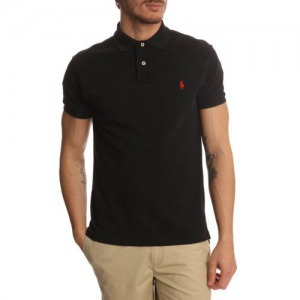 Ralph Lauren galléros póló - fekete 5d9d00beda
