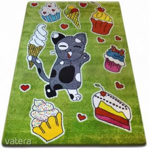 gyerekek szőnyeg Muffin zöld C415, 140x190 cm
