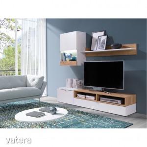 Nappali bútor, fehér/tölgy arany, ROSO (Nappali bútor,)