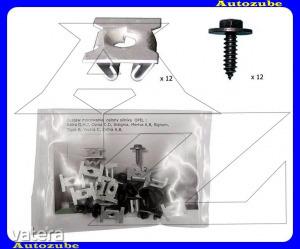 OPEL  CORSA  D  2011.03-2014.08  /S07/  Alsó  motorvédő  burkolat  rögzítő  készlet  (24db)  {ROMIX}