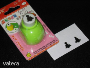 Mintalyukasztó / Formalyukasztó : Karácsonyfa / Zöld
