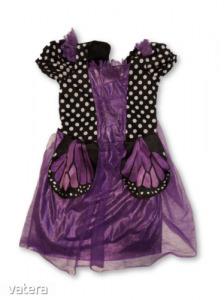 4-5 évesre fekete-lila boszorkány, halloween jelmez