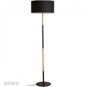 CINDA TYP 21 álló lámpa,  alumínium fekete / fa minta