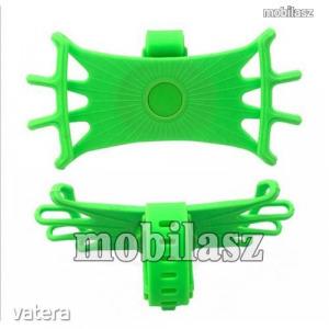 UNIVERZÁLIS biciklis / kerékpáros tartó konzol mobiltelefon készülékekhez - ZÖLD - 360°-ban forga...