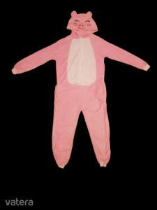 Női M-es rózsaszín malac szőrmés háziruha, jelmez - ÚJ