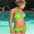 Divatos bikini zöld