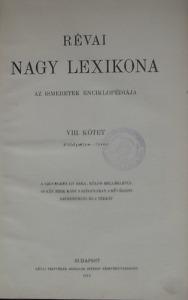 : Révai Nagy Lexikona VIII.