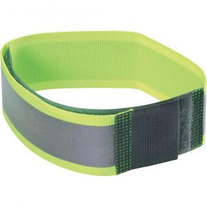 Fényvisszaverő biztonsági tépőzár, 430 mm x 38 mm, neon sárga