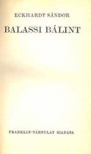 Eckhardt Sándor: Balassi Bálint