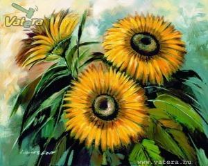 Virág, napraforgó 40x50 cm-es tábla kép, akció