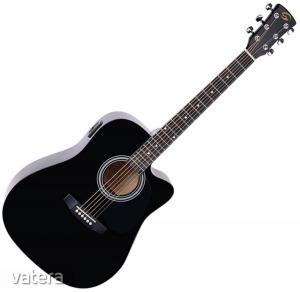 Soundsation - Yosemite-DNCE-BK akusztikus gitár elektronikával fekete