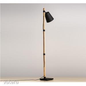 Állólámpa, fekete/bronz,  CINDA TIP 4 YF6048