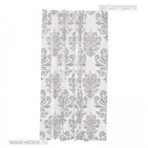 Textil hatású műanyag zuhanyfüggöny 180-200 cm ezüst mintás