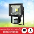 LED kültéri reflektor fényvető 20w mozgásérzékelős