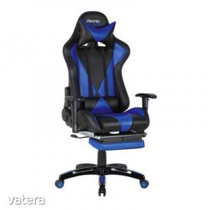 Gamer szék Suzuka fekete-kék - Irodai forgószék, levehető fejtámla, gázliftes hintamechanika