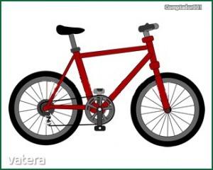 Matrica ovisjel bicikli (4x4cm)