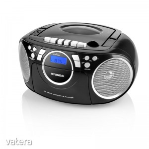 Hyundai TRC788AU3BS - Hordozható rádió, FM, CD, CD-R, CD-RW, USB, MP3, 230V
