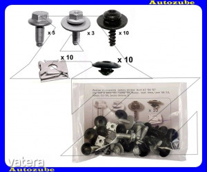 SEAT  ALTEA  2004.05-2009.03  /5P/  Alsó  motorvédő  burkolat  rögzítő  készlet  (38db)  {ROMIX}