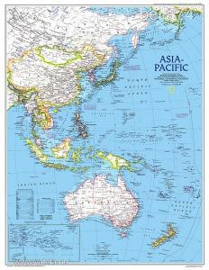 Eredeti térképmelléklet - National Geographic Magazine 1989. Asia-Pacific