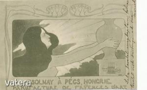 Zsolnay porcelán reklámlapja - Pécs  1901 - Aukció Kép