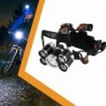 Five light source bicikli fejlámpa