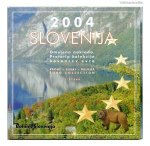 Szlovénia Euro Forgalmi sor 2004 Próba tervezet