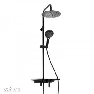 Yoka Santorini többfunkciós zuhanyrendszer csapteleppel - fekete
