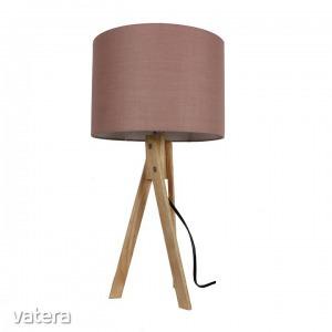 LILA typ 3 asztali lámpa,  barna Taupe / természetes fa