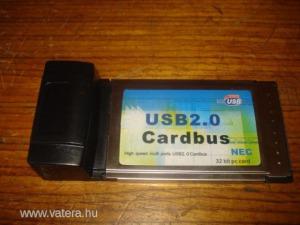 Eladó PCMCIA CARDBUS USB 4x laptophoz.Rendben müködik.
