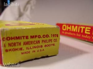 Nagyteljesítményű, nagyfeszültségű ellenállás, 3db: 10 Ohm, 100W, 2850V.  OHMITE - Made in USA