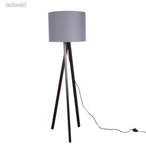 Állólámpa, szürke/fekete fa LILA TIP 10
