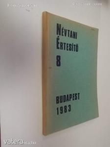 Névtani Értesítő 8 (Budapest 1983) (*98)