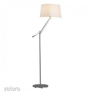 Állólámpa, fém/fehér anyag,  CINDA TIP 7  F3031