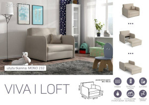 VIVA LOFT I. előre nyíló rugós fotelágy