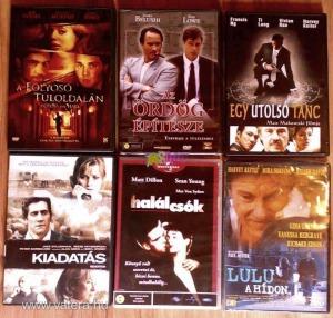 DVD filmek egységesen 500Ft/db. áron akció, kaland, horror, vígjáték, háborús, romantikus témákban.
