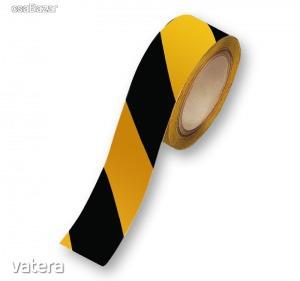 Jelölő öntapadós szalag sárga/fekete 48 mm széles 20 m/tekercs - 1290 Ft Kép