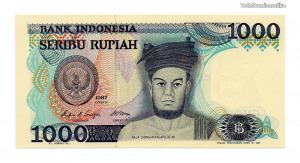 Indonézia 1000 Rúpia Bankjegy 1987 P124a