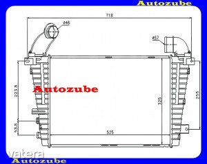 OPEL  ASTRA  H  2003.09-2010.08  /A04/  Intercooler,  levegőhűtő    2007.12.-ig      1.7  DTR  / ...