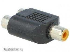 Adapter : RCA aljzat - 2x RCA átalakító