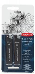Grafitbél szett, 0,5 mm, HB, 2B, DERWENT 'Precision'
