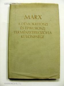 Karl Marx - A démokritoszi és epikuroszi természetfilozófia különbsége (67/1710g)