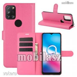 ALCATEL 3X (2020) (5061U), WALLET notesz mobiltok, Rózsaszín