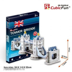Cubicfun 3D Puzzle - Tower Bridge (32db-os)