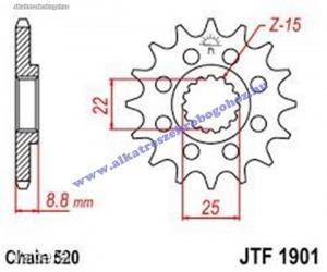 Lánckerék első JTF1901SC 520 14 fogas