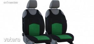 Univerzális trikó üléshuzat pár Tuning 100% velúr zöld fekete színben