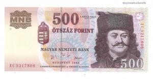 2003 500 forint EC UNC