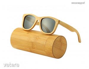 [RAKTÁR] Bambusz napszemüveg - szemüveg fa tokkal
