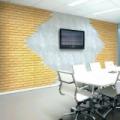Öntapadós 3D dekor falmatrica sárga mintás tégla 70x77x0,6 cm