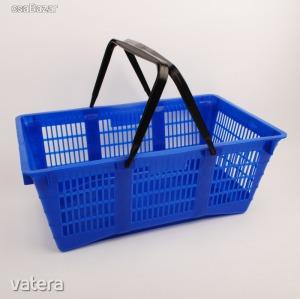Műanyag 2 füles hagyományos bevásárlókosár