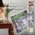 3D dekor falmatricaszett/öntapadós tapéta kivitelben (9db/szett, 1 m2)